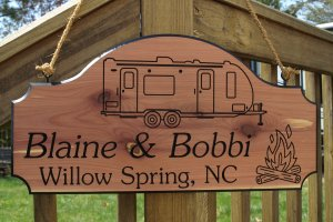 Travel Trailer RV Camper Camping Sign